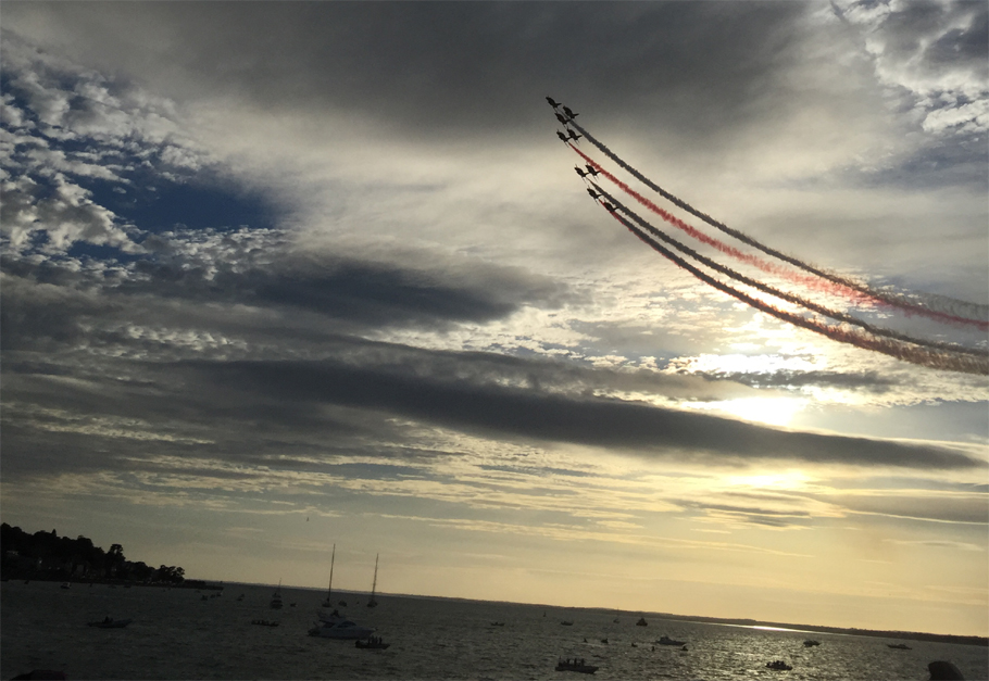 Red Arrows over Cowes